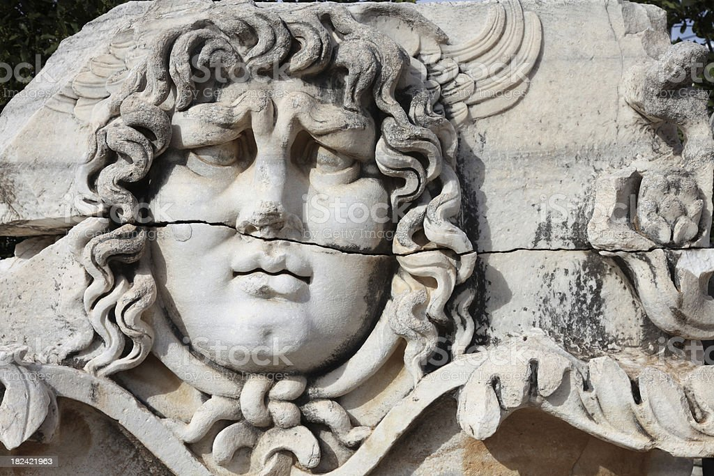 Medusa at Temple of Apollo Didyma royalty-free stock photo
