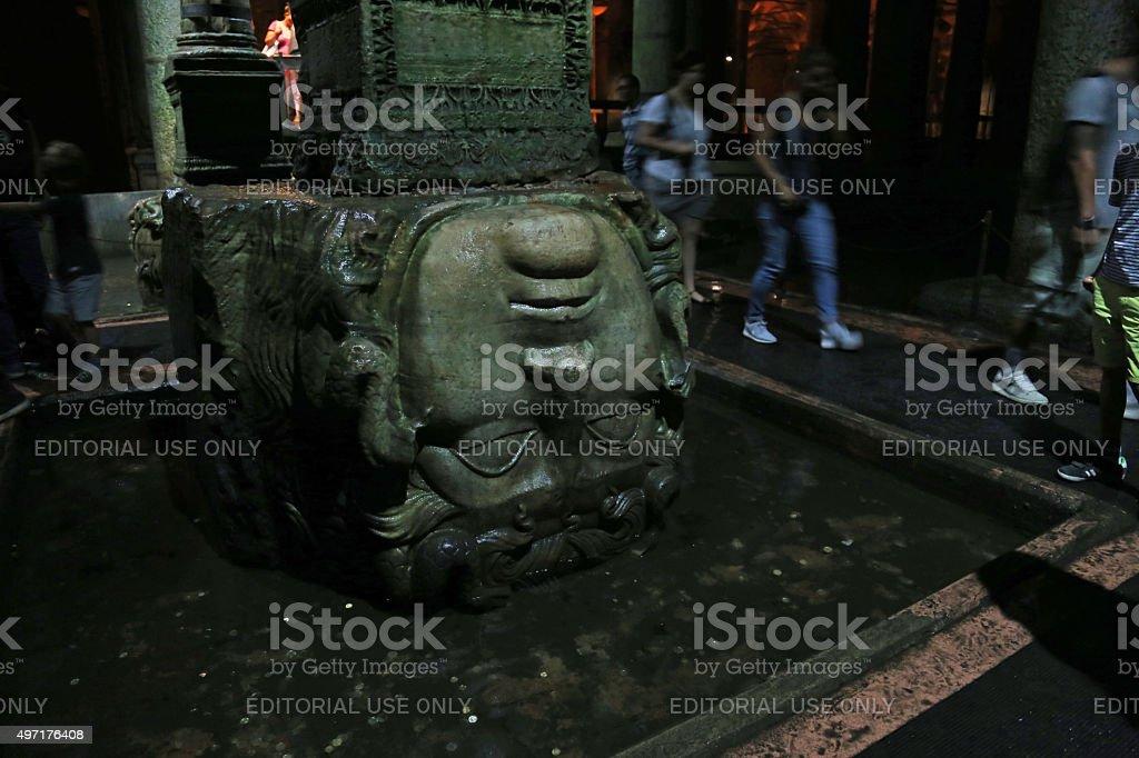 Medusa Column stock photo