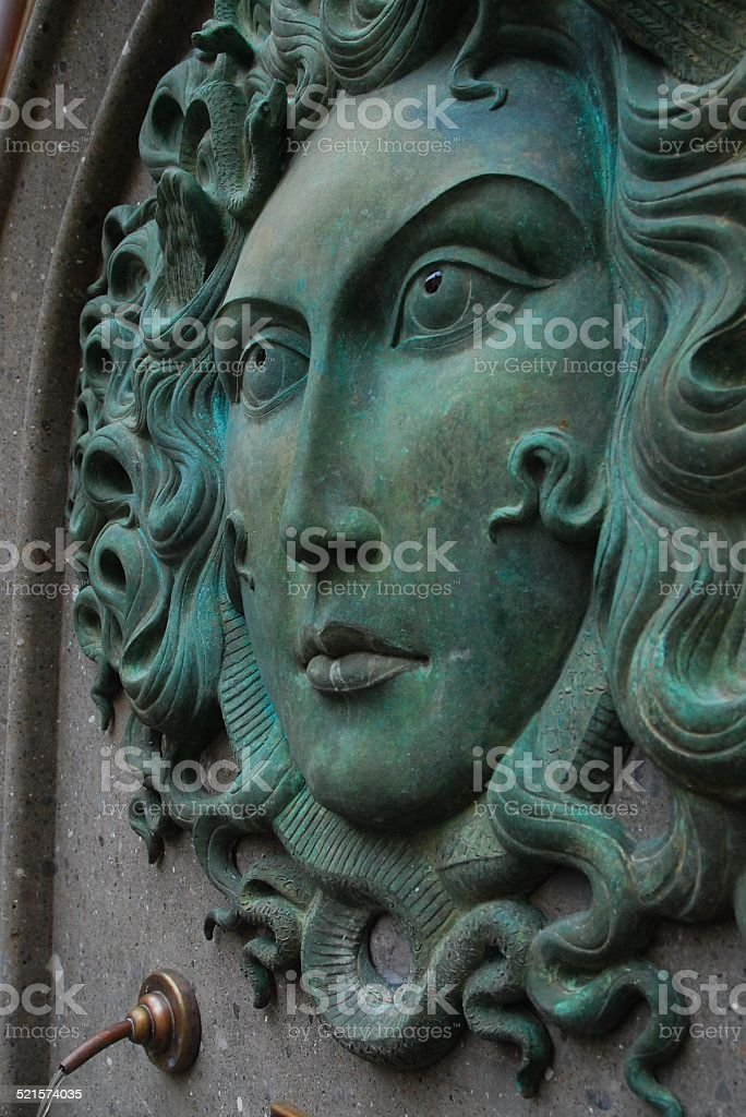 Medusa Fountain in Nemi, Italy royalty-free stock photo