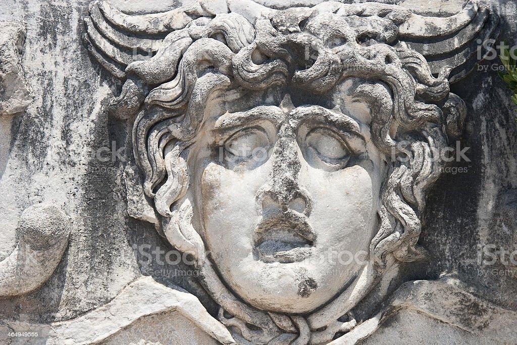 Medusa Gorgon in Apollo Temple stock photo