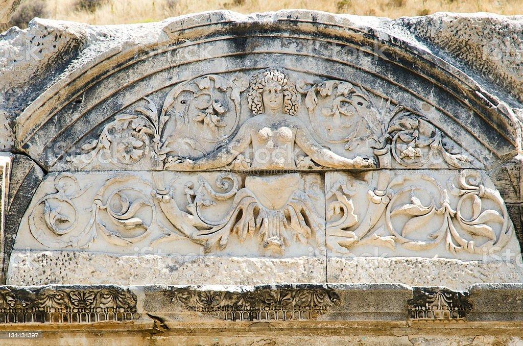 Medusa in Hadrian's Temple royalty-free stock photo