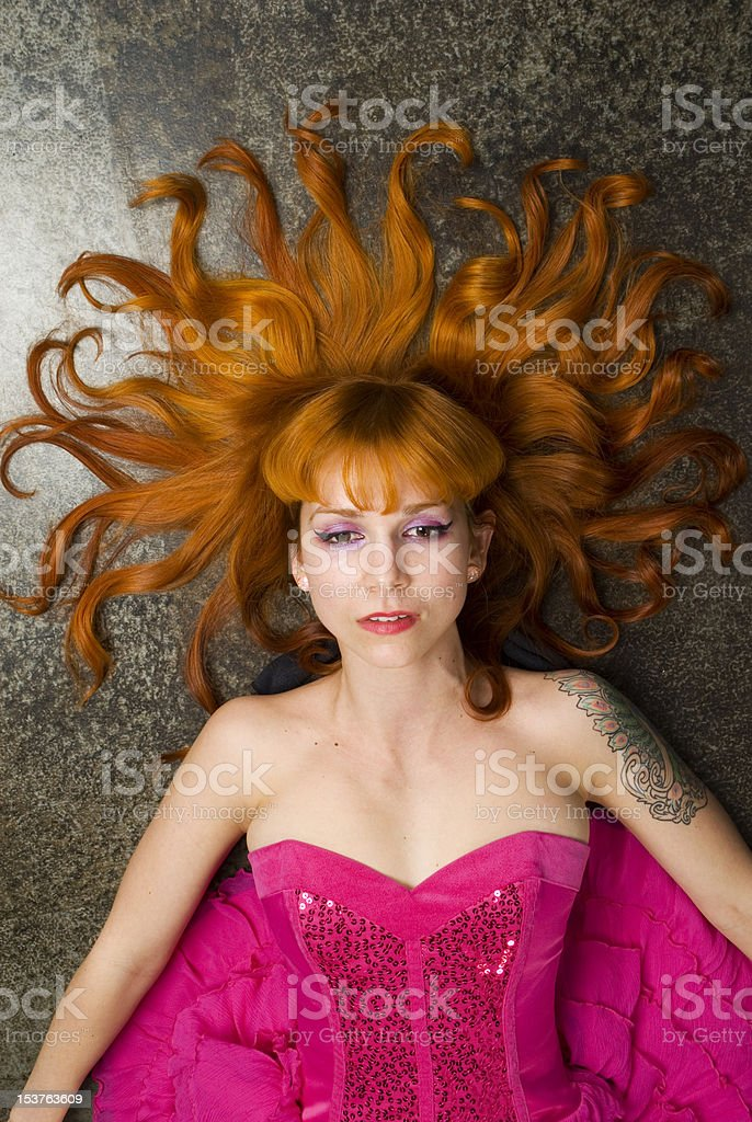Medusa in Pink royalty-free stock photo