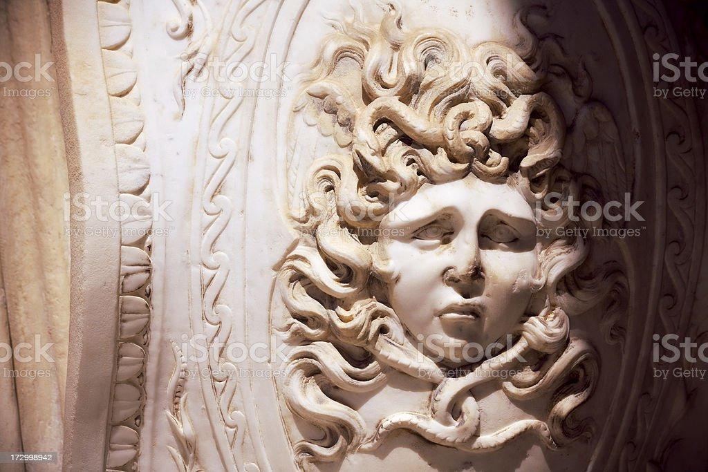 Medusa mask royalty-free stock photo