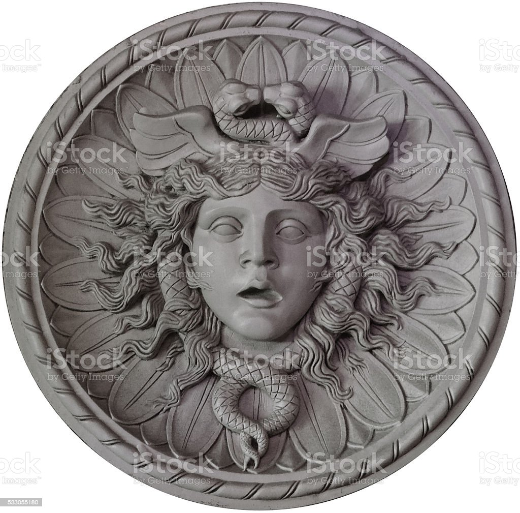 Medusa medallion stock photo