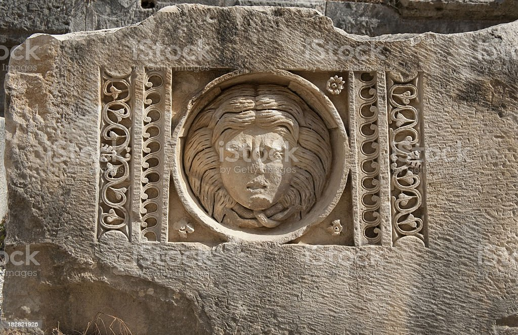 Medusa,  Myra, Antalya royalty-free stock photo