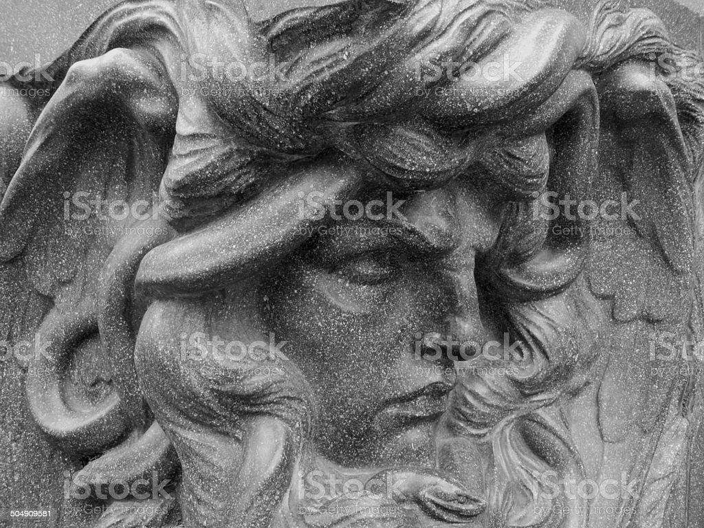 Medusa sculpture in Parco della Villa Borghese, Rome Italy stock photo
