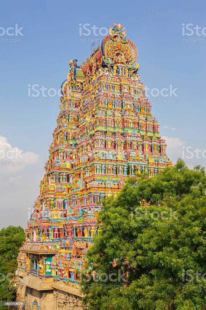 Meenakshi Amman Temple in Madurai India stock photo