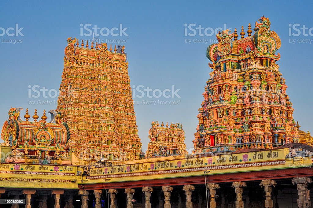 Meenakshi Amman Temple stock photo