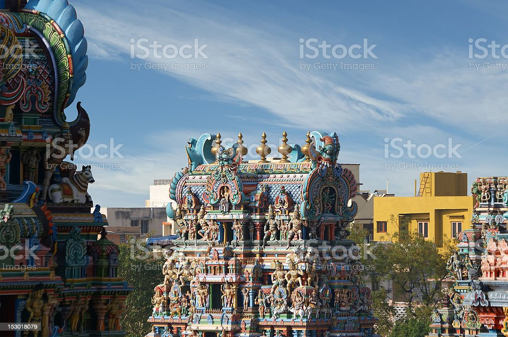Meenakshi hindu temple in Madurai, Tamil Nadu, South India royalty-free stock photo