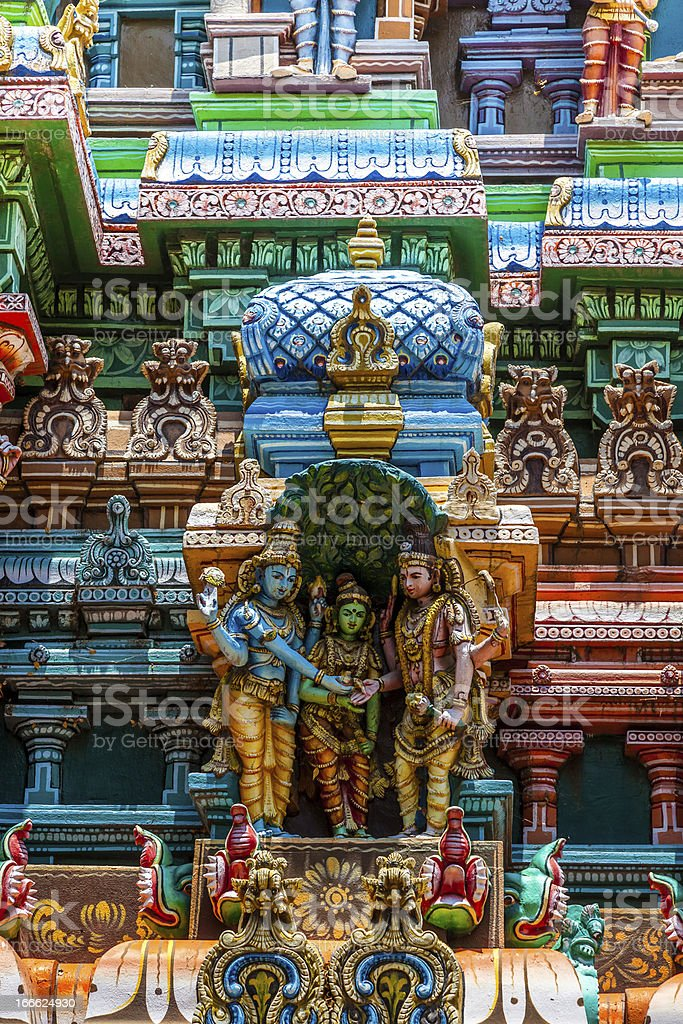 Meenakshi hindu temple in Madurai, Tamil Nadu, South India stock photo