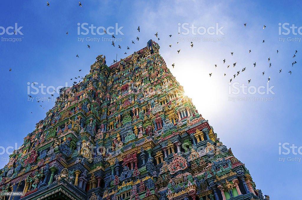 Meenakshi hindu temple in Madurai, Tamil Nadu, South India stock photo