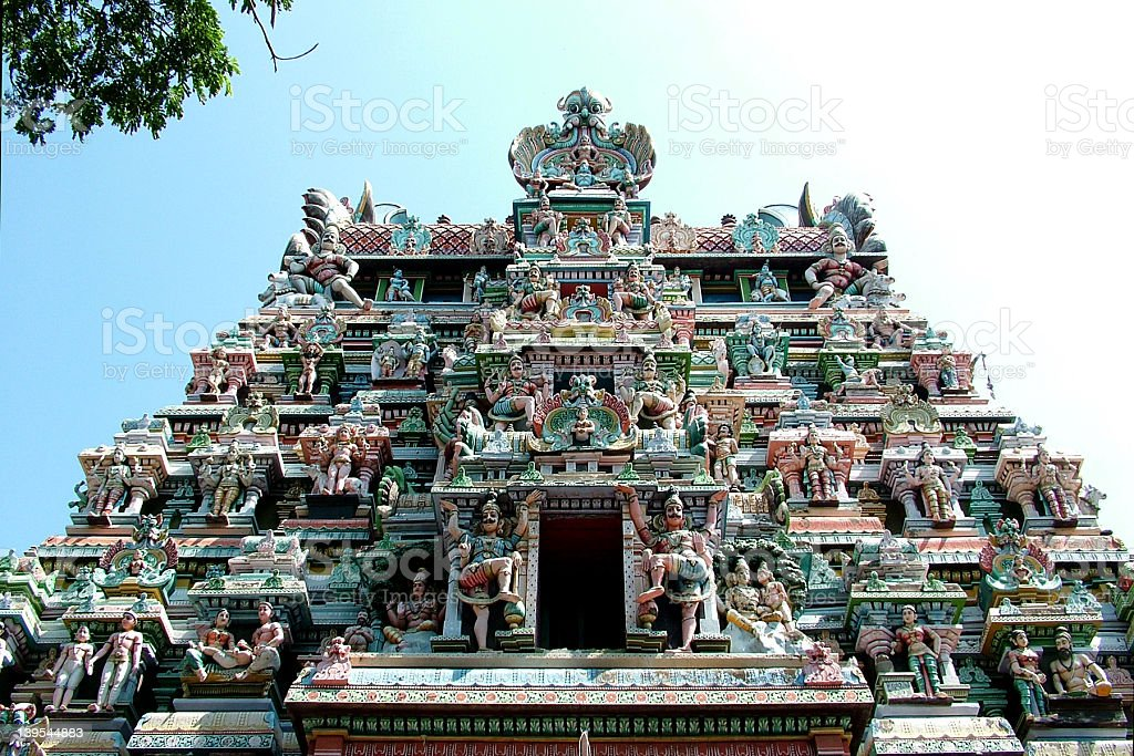Meenakshi temple, Hindu pilgrim centre, stock photo