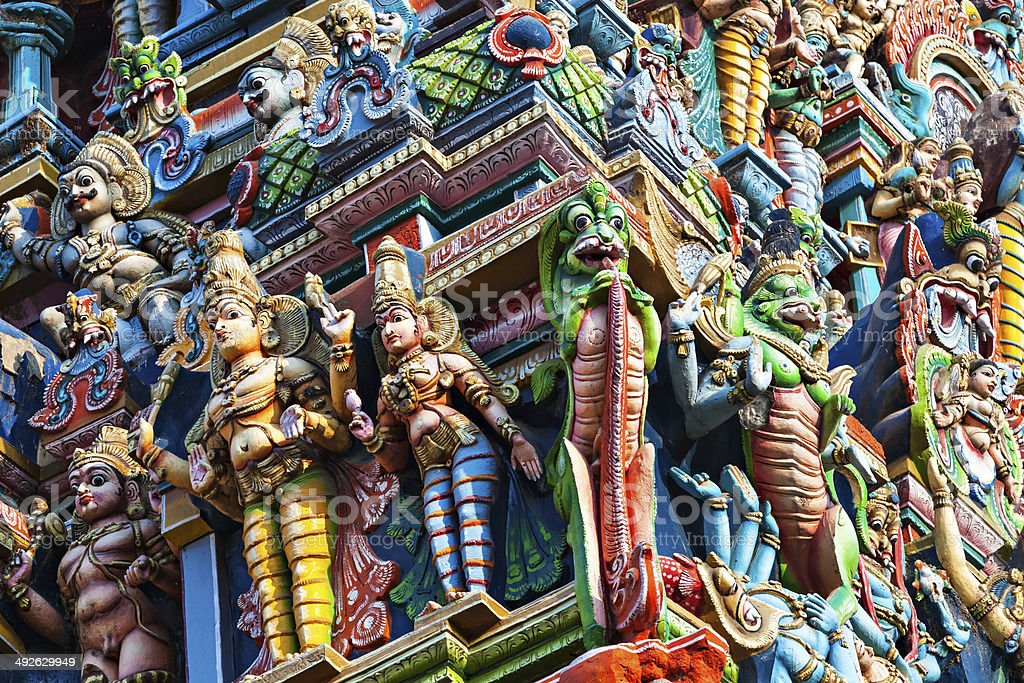 Meenakshi Temple stock photo