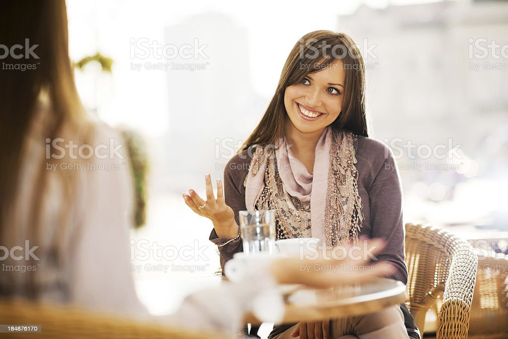 Meet for a coffee. royalty-free stock photo