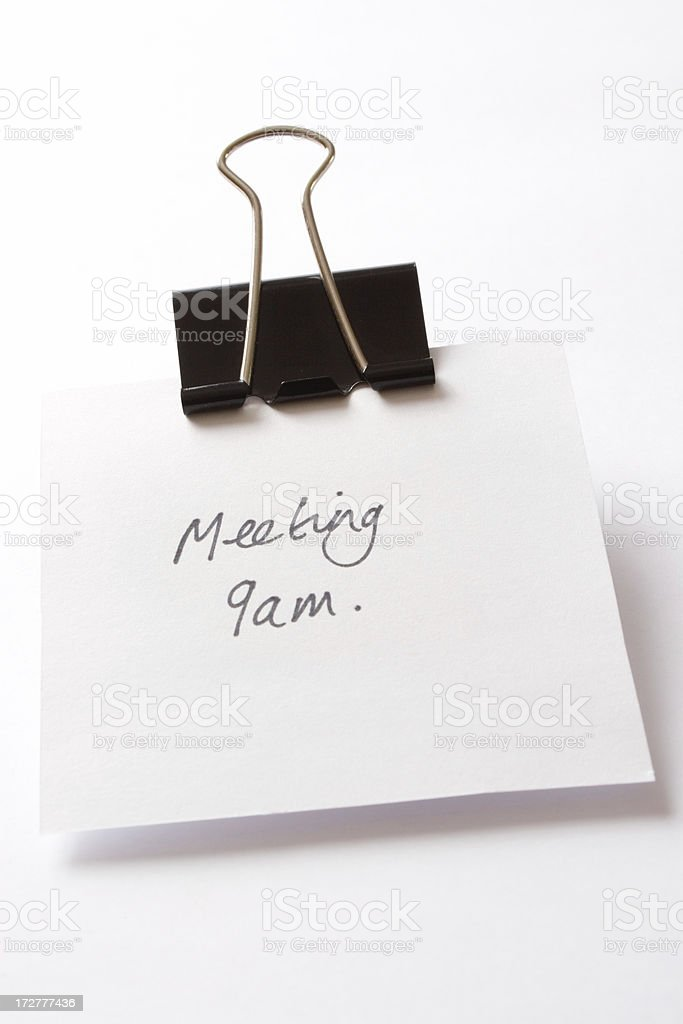 Meeting 9am! royalty-free stock photo