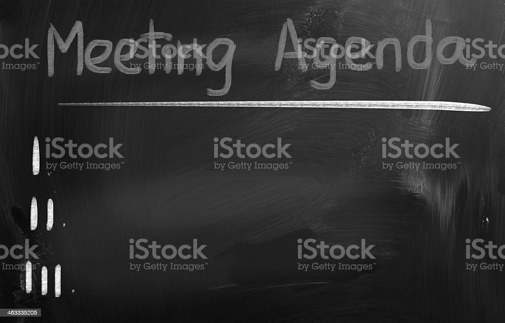 Meeting Agenda Concept royalty-free stock photo