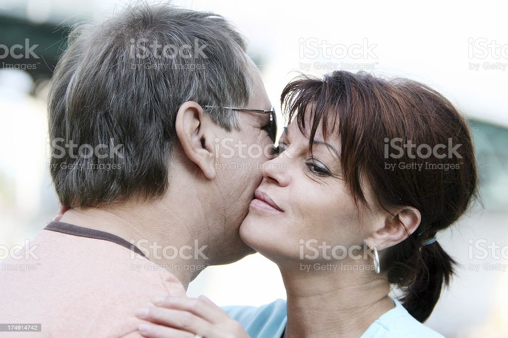 Meeting an old friend royalty-free stock photo