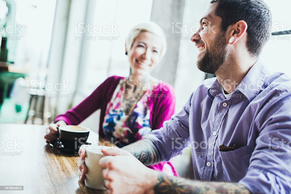 Meeting At Coffee Shop royalty-free stock photo