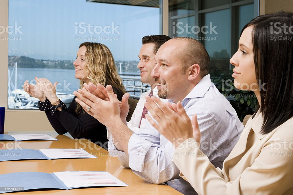 Meeting Attendees Applauding royalty-free stock photo