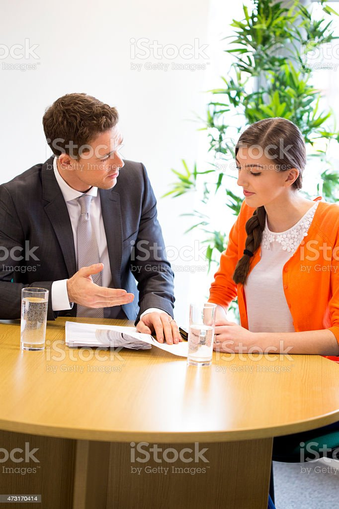 Meeting Between Professional and Student stock photo