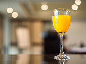 Meeting break with fresh orange juice,