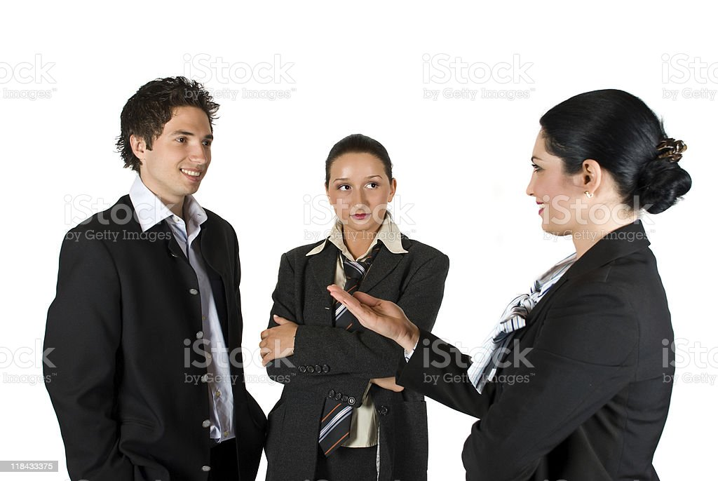 Meeting business people stock photo