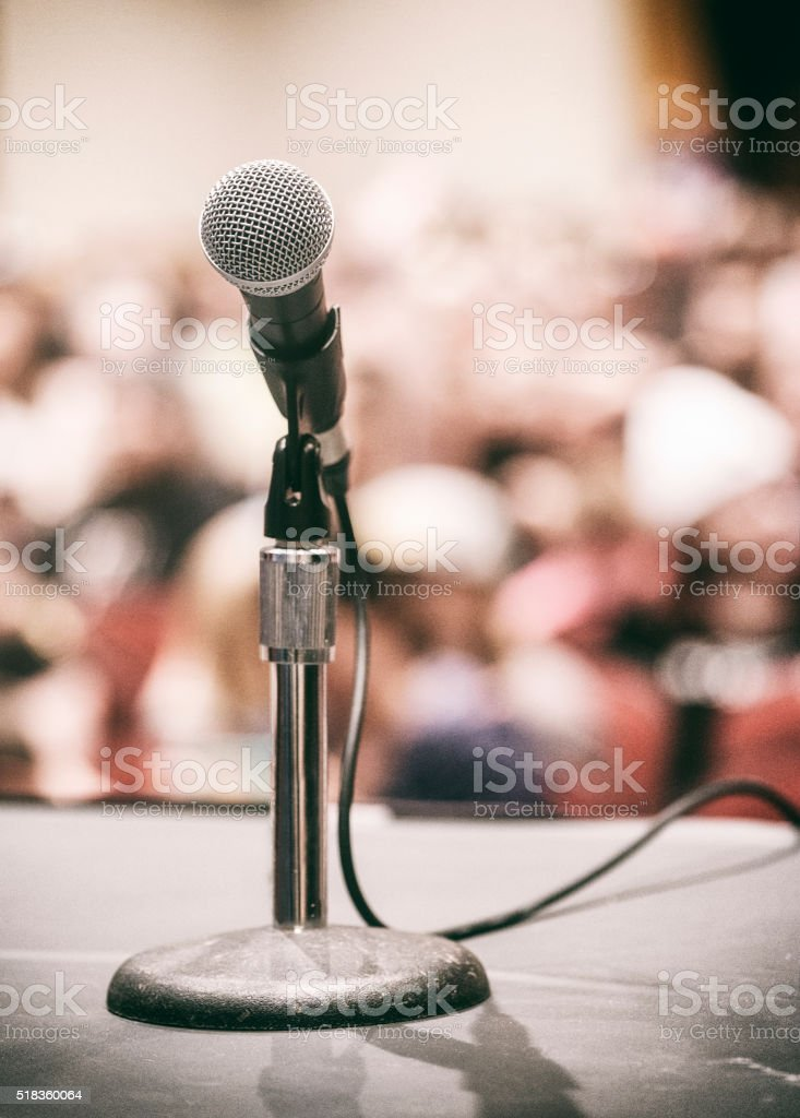 Meeting Conference Microphone stock photo