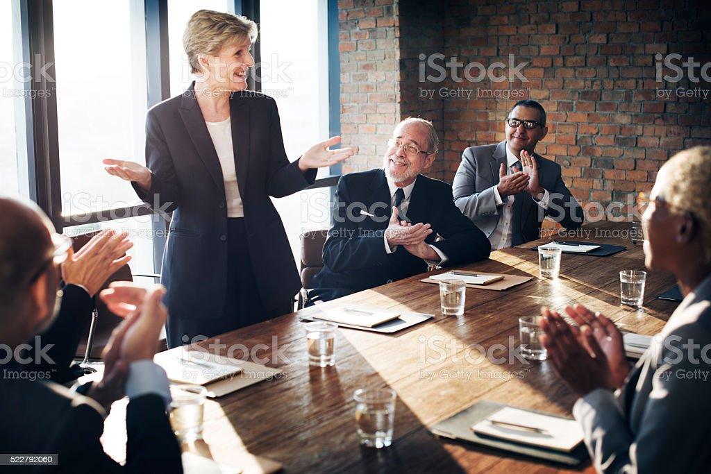 Meeting Corporate Success Brainstorming Teamwork Concept stock photo