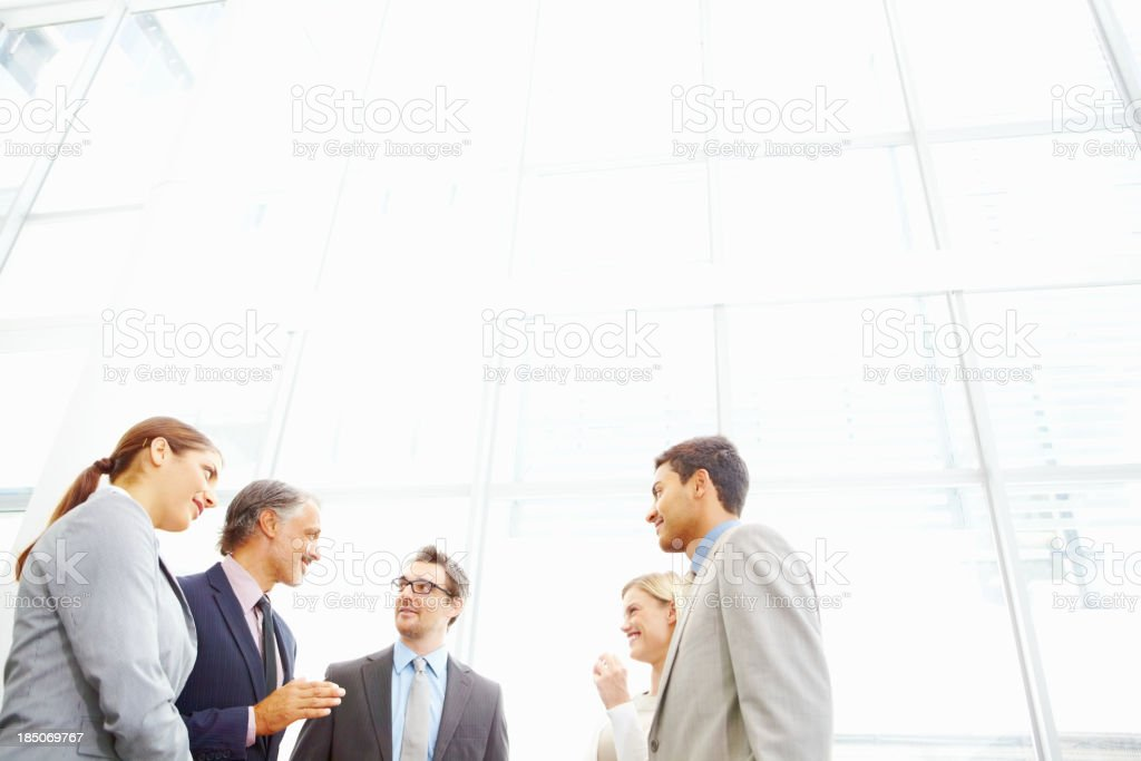 Meeting during office break royalty-free stock photo