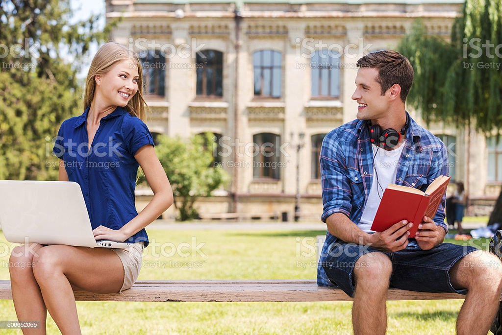 Meeting each other at the first time. stock photo
