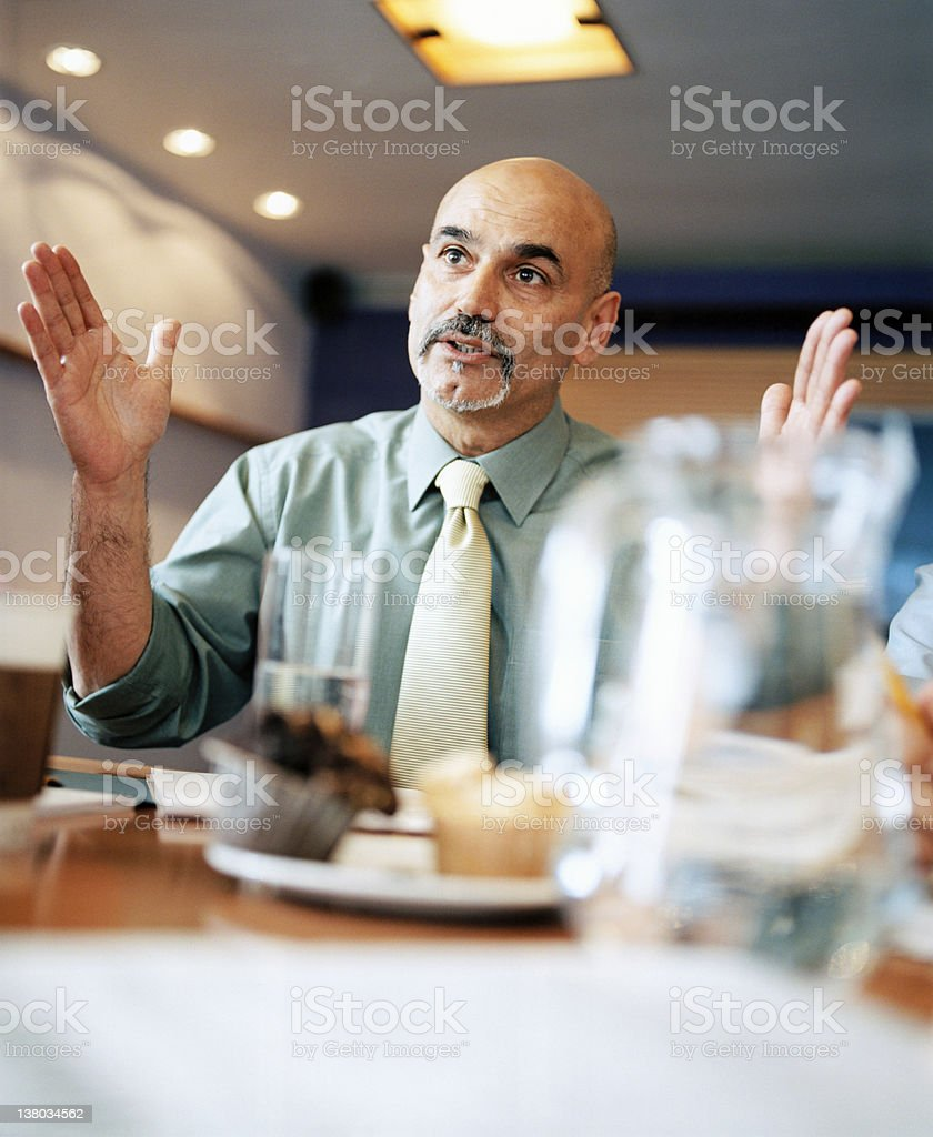 Meeting Explanation royalty-free stock photo
