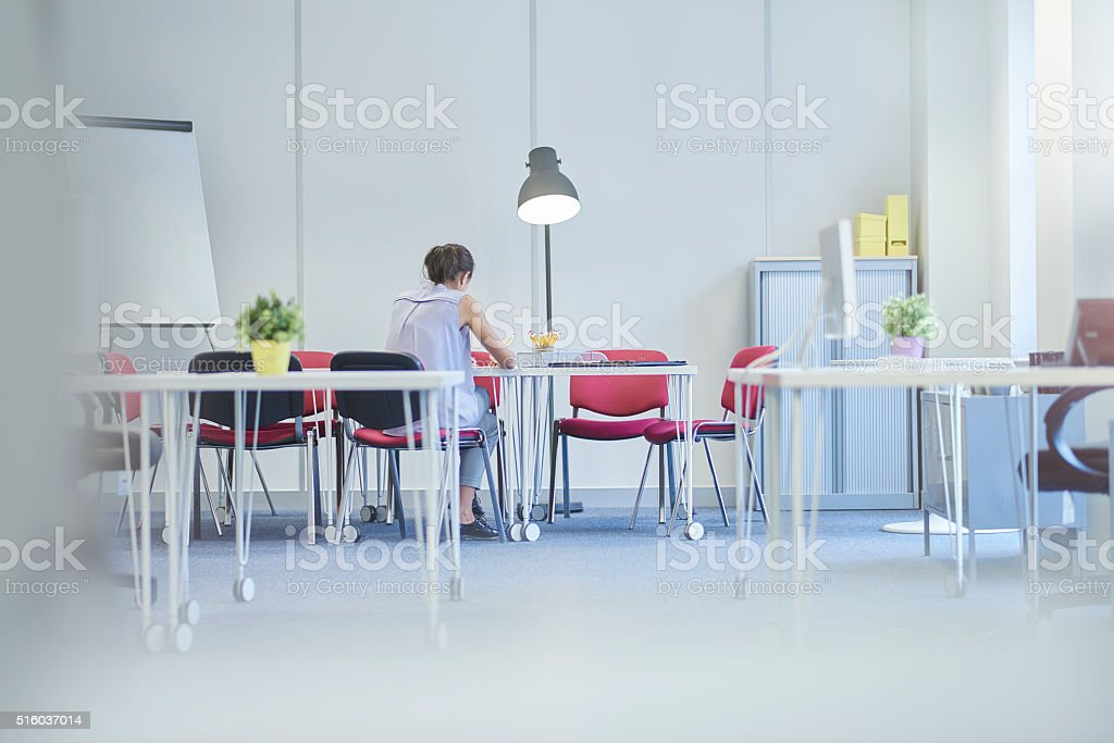 meeting for one stock photo