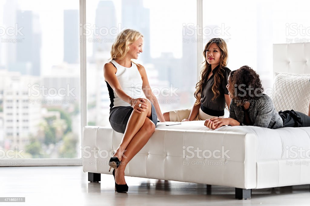 Meeting in an hotel Room stock photo