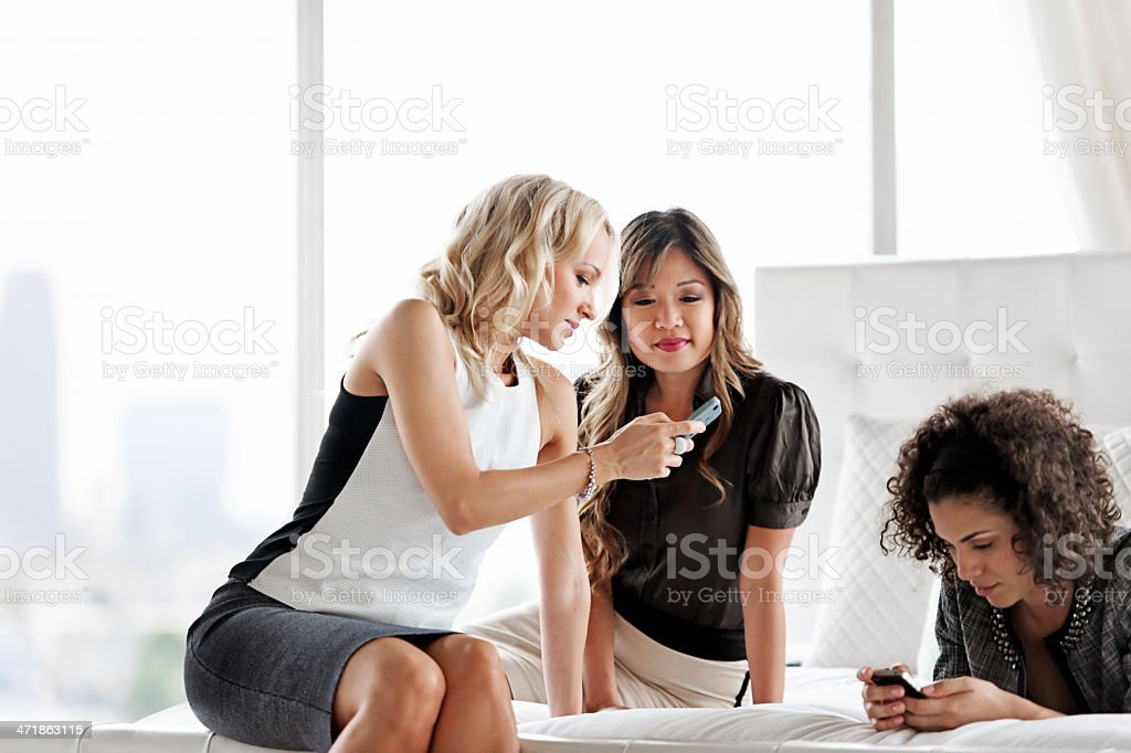 Meeting in an hotel room royalty-free stock photo