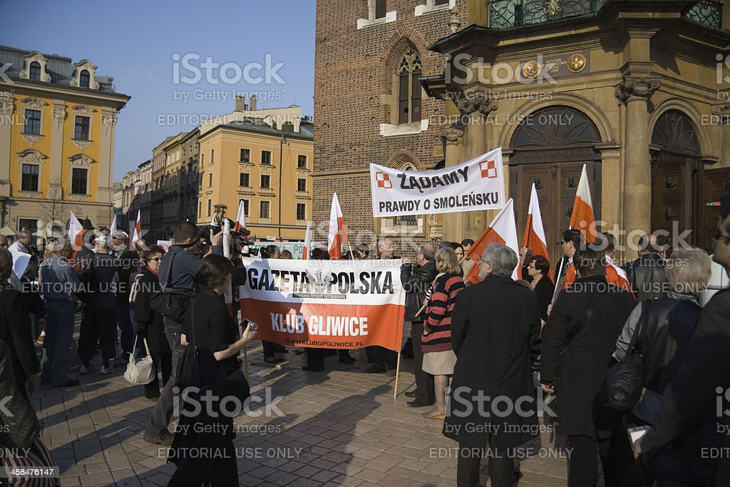 Meeting in Krakow royalty-free stock photo