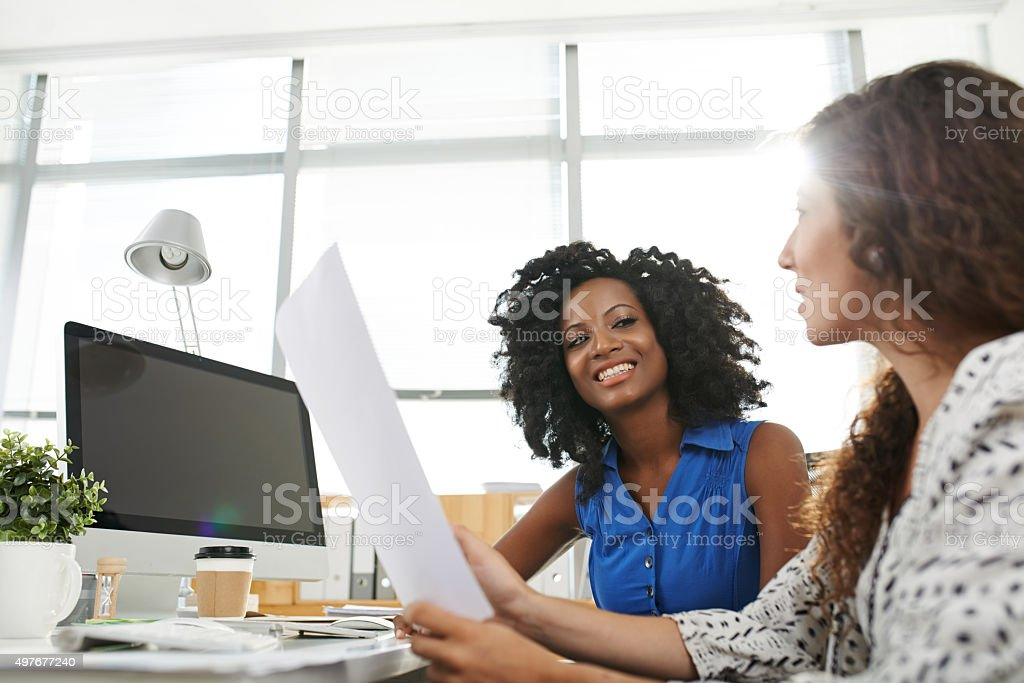 Meeting in office stock photo