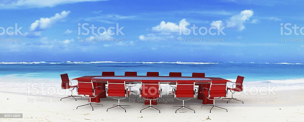 Meeting in Paradise stock photo