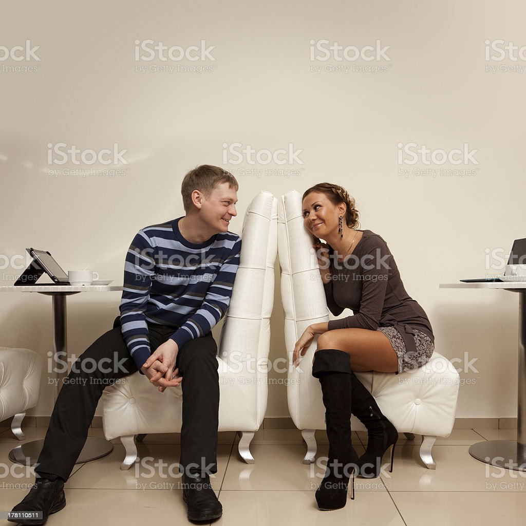 Meeting in the cafe royalty-free stock photo