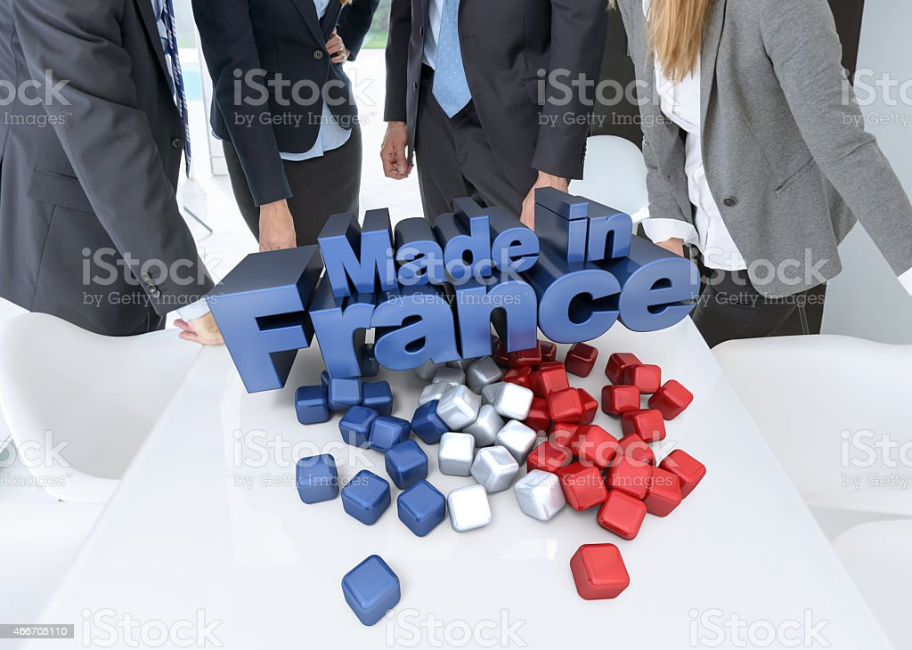 Meeting made in France stock photo