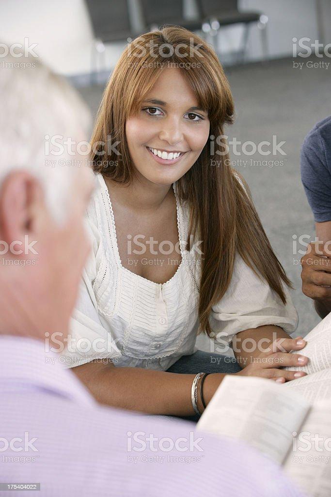 Meeting Of Bible Study Group stock photo
