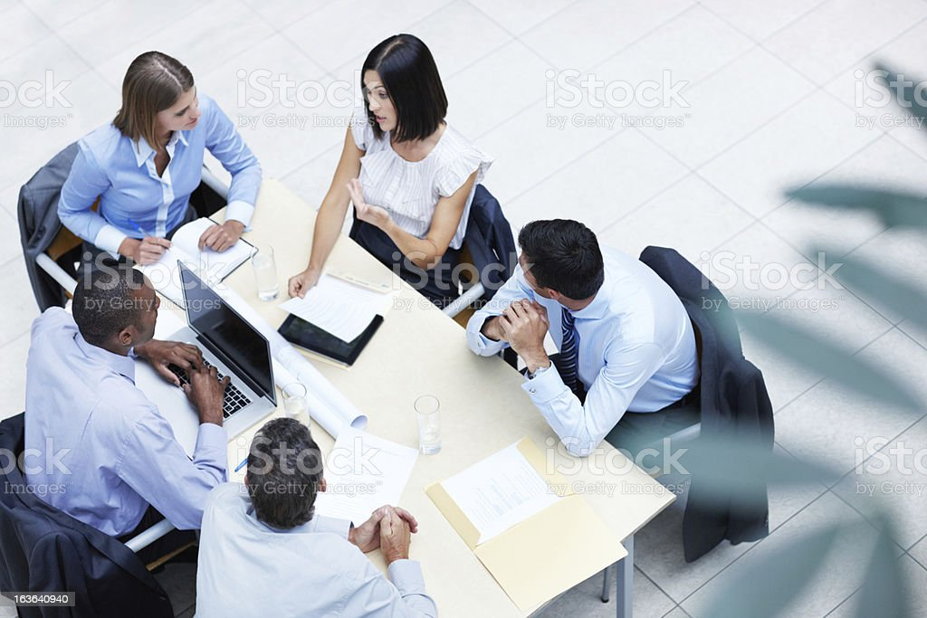 Meeting of corporate minds royalty-free stock photo