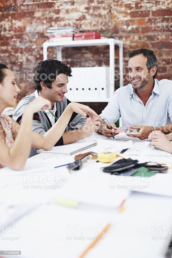 Meeting of creative minds royalty-free stock photo