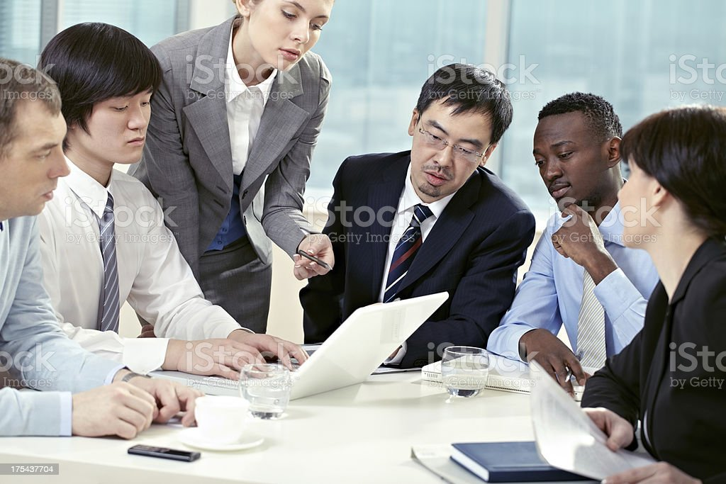 Meeting of directors committee stock photo