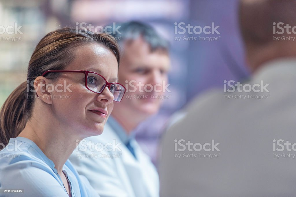 Meeting of doctors stock photo