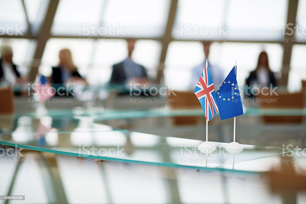 Meeting of European Union leaders stock photo