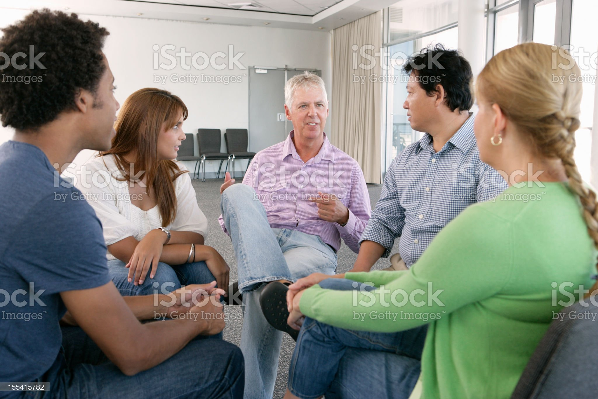 Meeting Of Support Group royalty-free stock photo