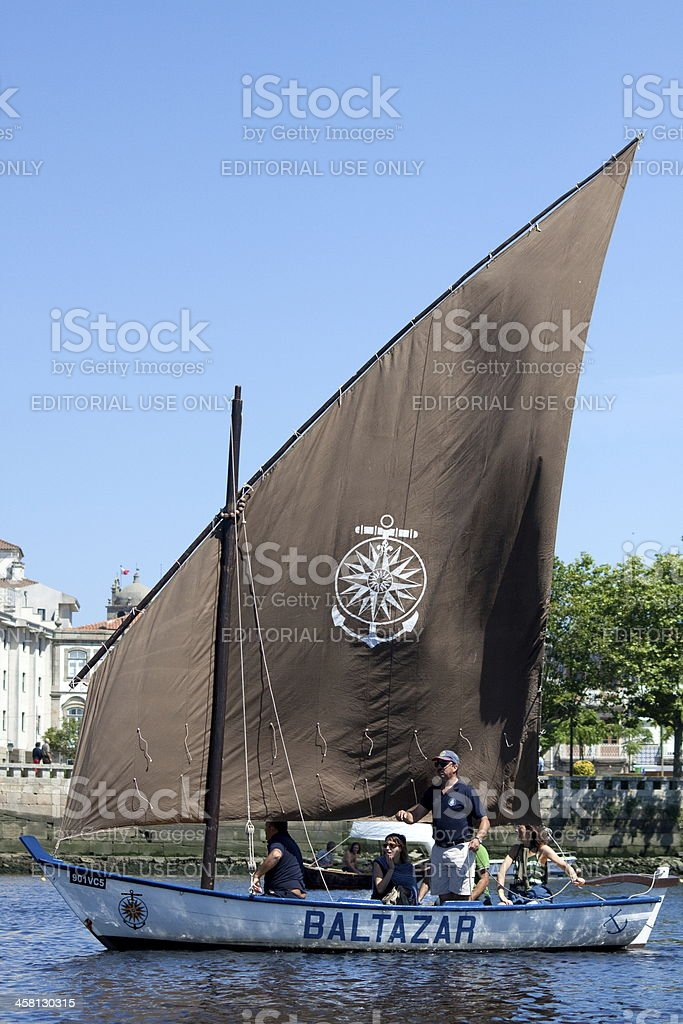 IX Meeting of Traditional Boats in Vila do Conde. royalty-free stock photo