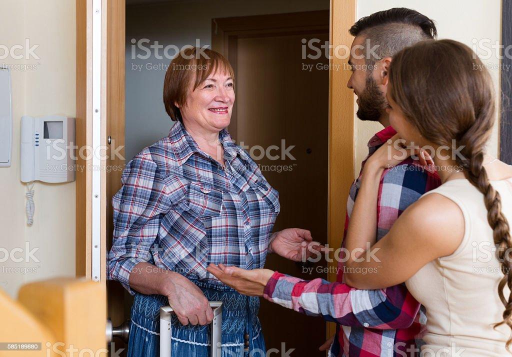 Meeting parents stock photo