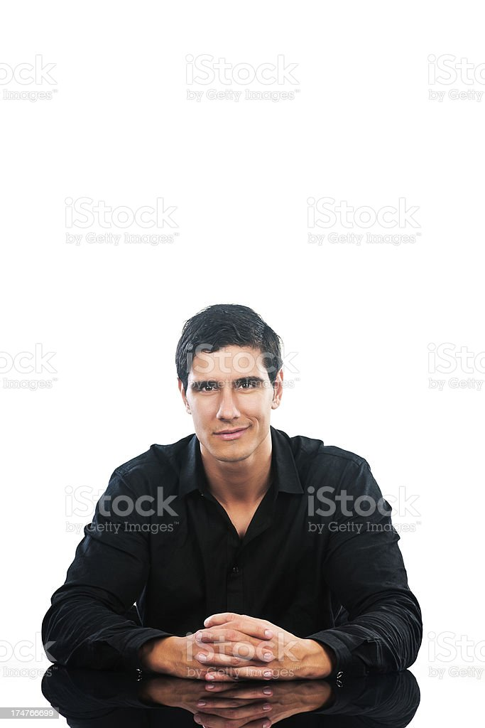Meeting person royalty-free stock photo