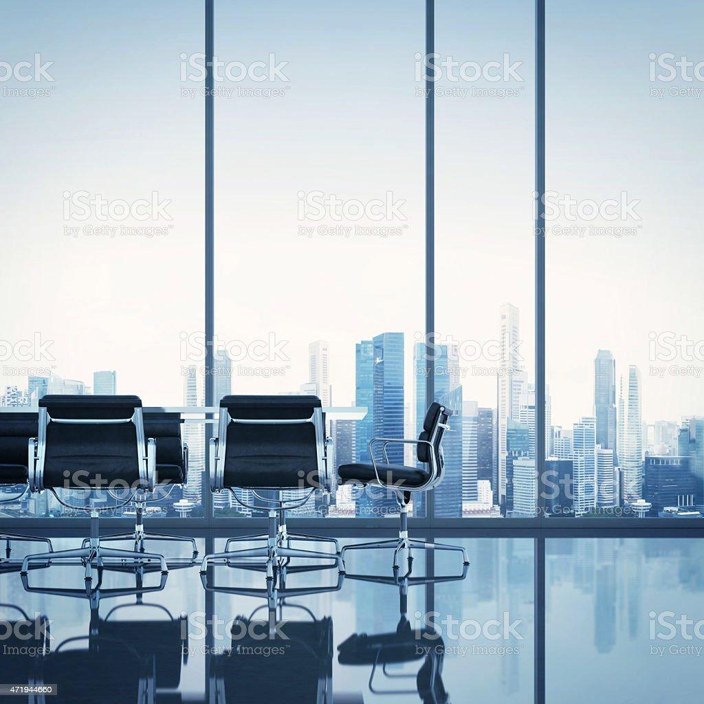 Meeting room. 3D rendering stock photo